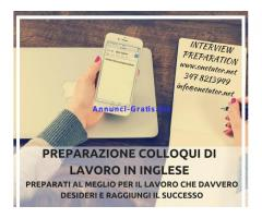 PREPARAZIONE COLLOQUI DI LAVORO CON DOCENTE MADRELINGUA INGLESE