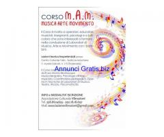 Corso M.A.M. Musica, Arte, Movimento