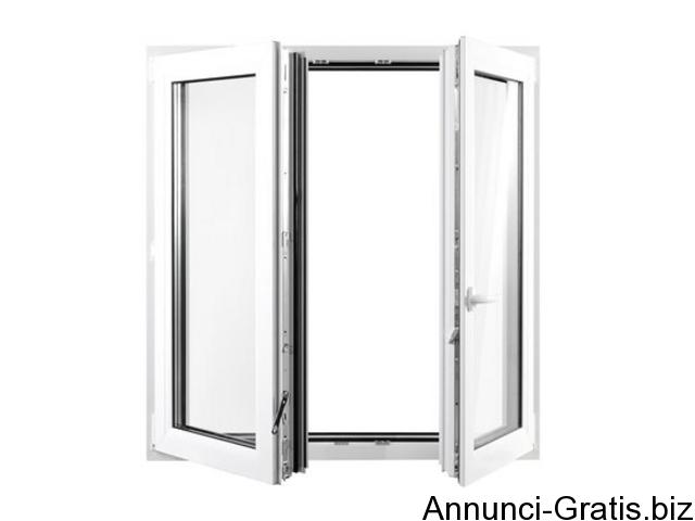 Porte finestre in pvc 2 ante colore bianco h 2200 l 1600 - Finestre pvc firenze ...