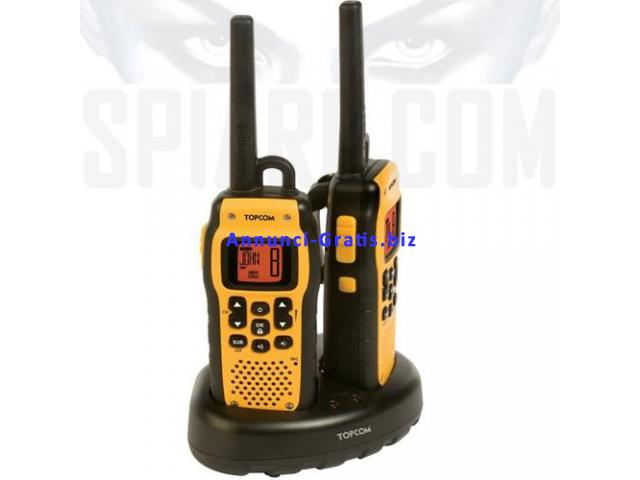 Walkie Talkie ricetrasmittente professionale resistente all'acqua norma IP X7
