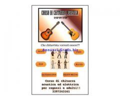 Lezioni di chitarra e basso a domicilio per ragazzi