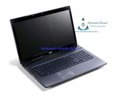 Notebook Acer 5750 i7-2630M 4GB RAM 500GB Hard Disk 15.6″ LCD Windows 7 Ultimate Webcam