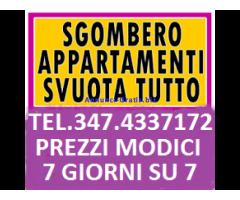 ROMA SGOMBERI ECONOMICI ABITAZIONI CANTINE BOX LOCALI UFFICI 7GG SU7