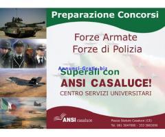 PREPARAZIONE AI CONCORSI NELLE FORZE ARMATE E NELLE FORZE DI POLIZIA.