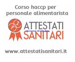 Corso HACCP online riconosciuto per personale alimentarista