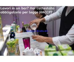 Corso HACCP online per Camerieri, Baristi e addetti somministrazione e vendita di alimenti