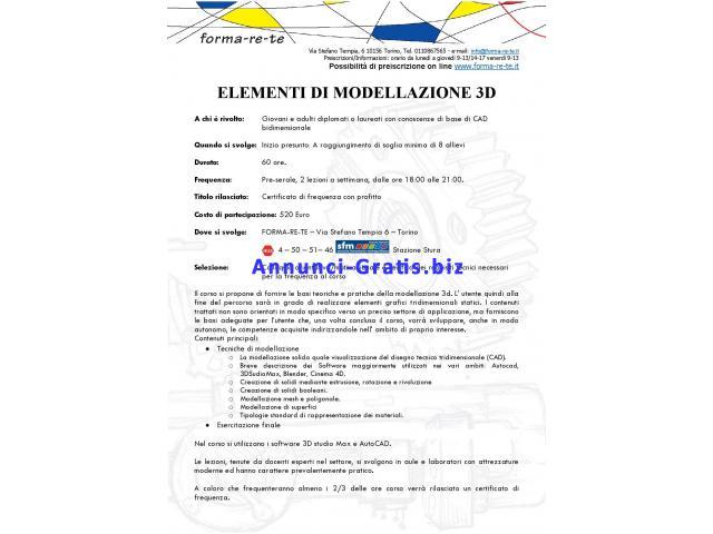 ELEMENTI DI MODELLAZIONE 3D