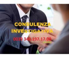 Investigatore Privato in Italia, Svizzera, Spagna, Francia e isole  eseguite da detective italiano