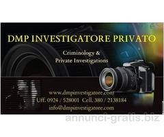 DMP INVESTIGATORE PRIVATO Criminology & Private Investigations
