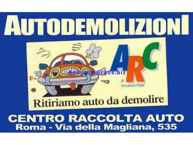 Autodemolizioni Vincenzo Pepe centro raccolta auto da demolire a Roma.