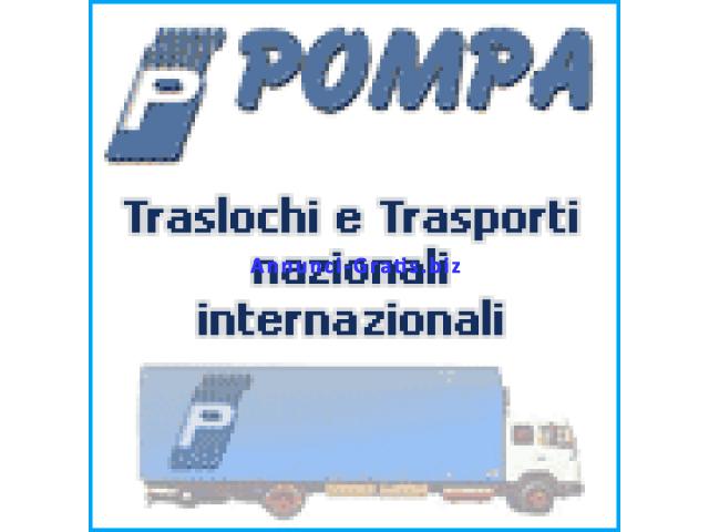 Pompa traslochi, trasporti nazionali ed internazionali.