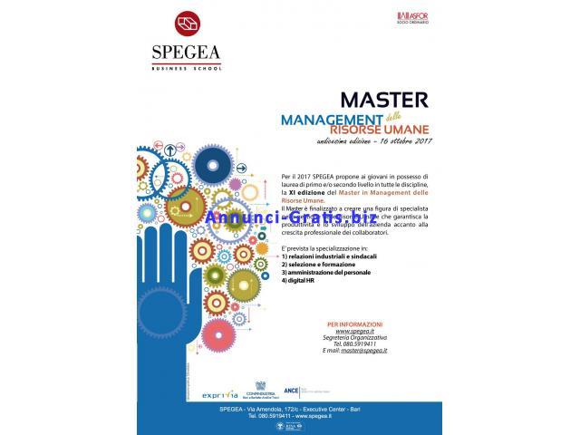 Master in Management delle Risorse Umane - XI edizione