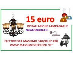 COME INSTALLARE UN LAMPADARIO A SOFFITTO ZONA ROMA