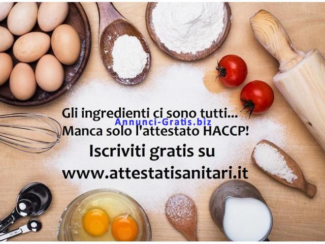 Iscrizione Gratuita Corso Haccp su internet per alimentarista
