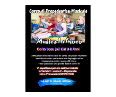 CORSO DI PROPEDEUTICA MUSICALE 3-6 ANNI A ROMA