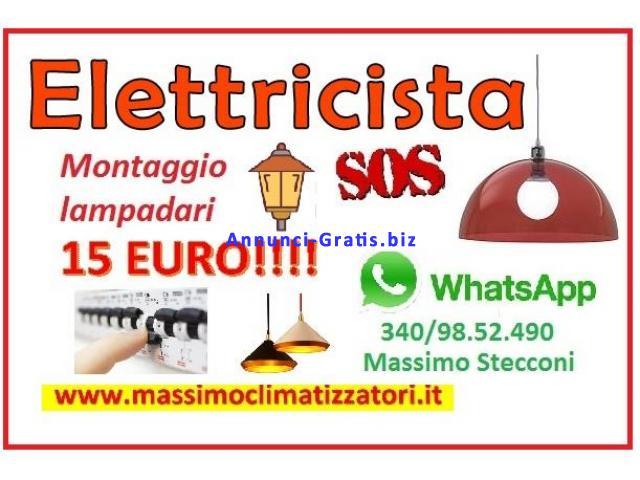 MONTAGGIO LAMPADARIO PLAFONIERE E MOLTO ALTRO......