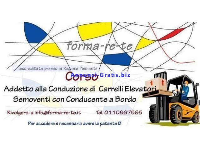 Corso per Carrellista / patentino mulettista