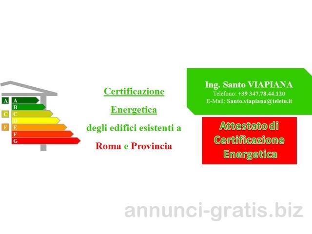Attestato ACE o APE a Roma