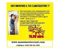 SMONTAGGIO CONDIZIONATORE