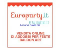 Europarty vendita on line di addobbi ed accessori per feste.