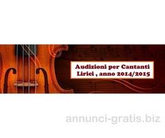 AUDIZIONE PER CANTANTI LIRICI