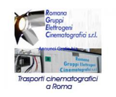 Romana gruppi elettrogeni noleggio e trasporti attrezzature cinematografiche a Roma.