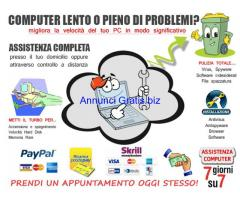 Assistenza PC, a domicilio o in via remota
