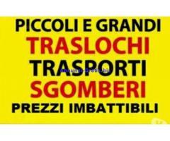 TRASLOCHI TRASPORTI SGOMBERI ECONOMICI 7GG SU7 TEL. 342-7746104