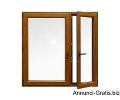 Porte Finestre in PVC  2 ante -colore bianco H 2200 L 1600 prodotto disponibile in 20gg
